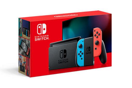 Immagine di Nintendo Switch with Neon Blue and Neon Red Joy‑Con™