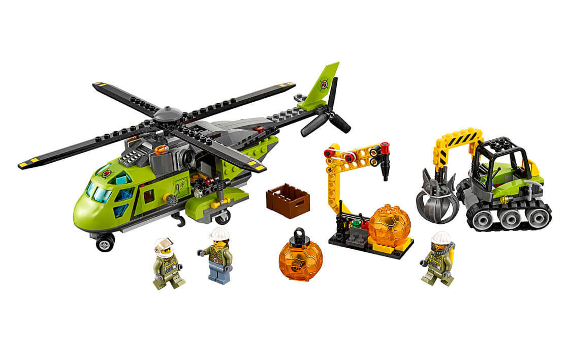 Lego City Volcano Supply Helicopter (60123)