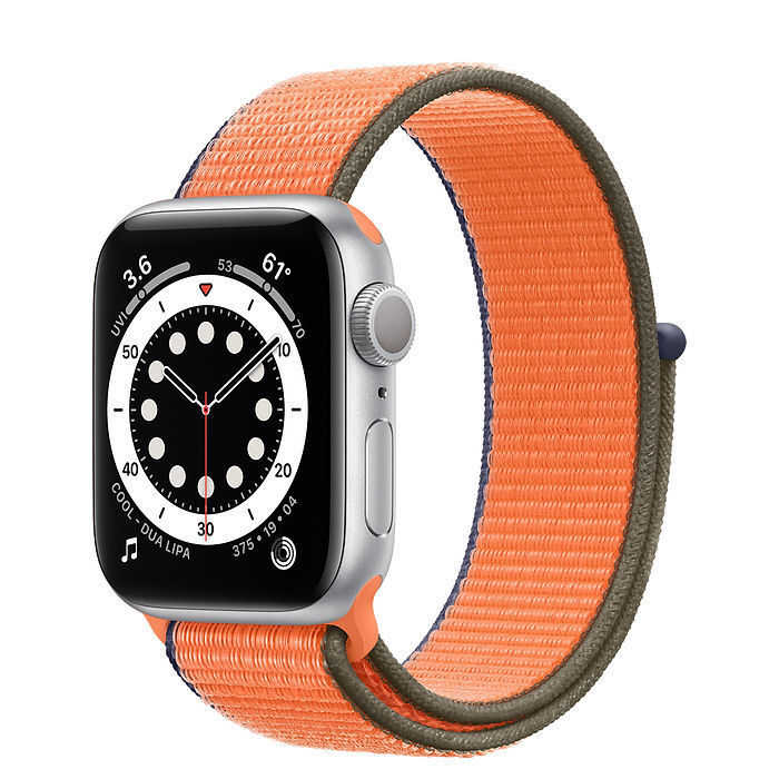 New Apple Watch Silver Aluminum Case with Sport Loop