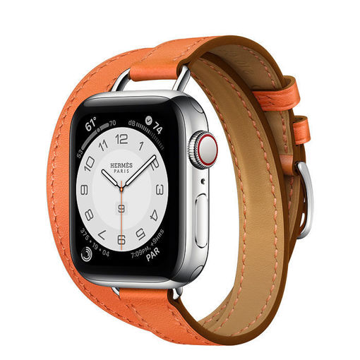 Apple Watch Hermès Silver Stainless Steel Case with Attelage Double Tour