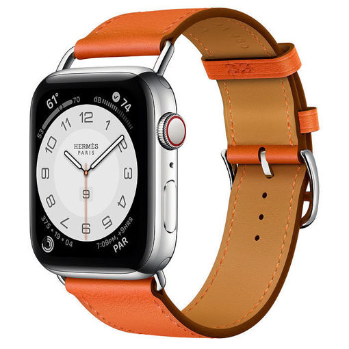 New Apple Watch Hermès Silver Stainless Steel Case with Attelage Single Tour