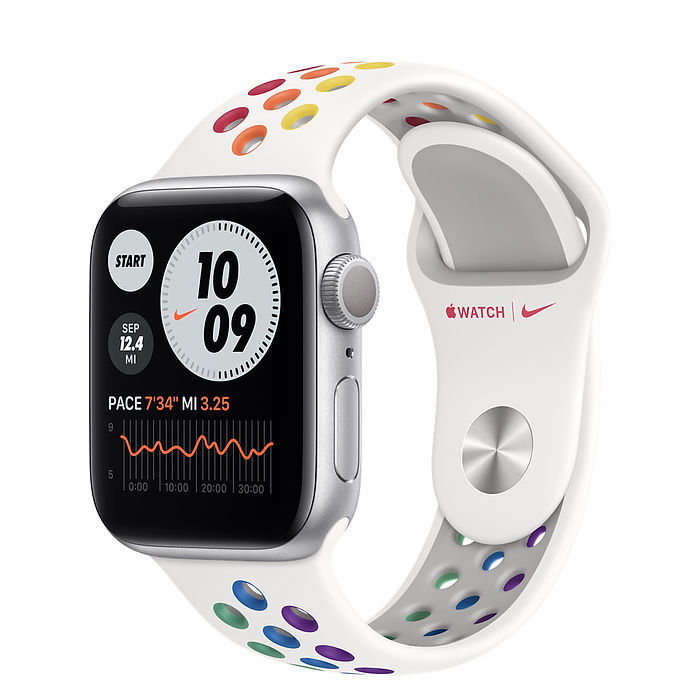 Apple Watch Nike Silver Aluminum Case with Nike Sport Band