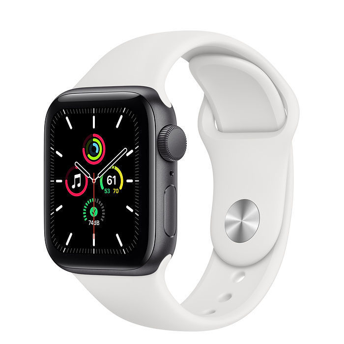 Apple Watch SE Space Gray Aluminum Case with Sport Band