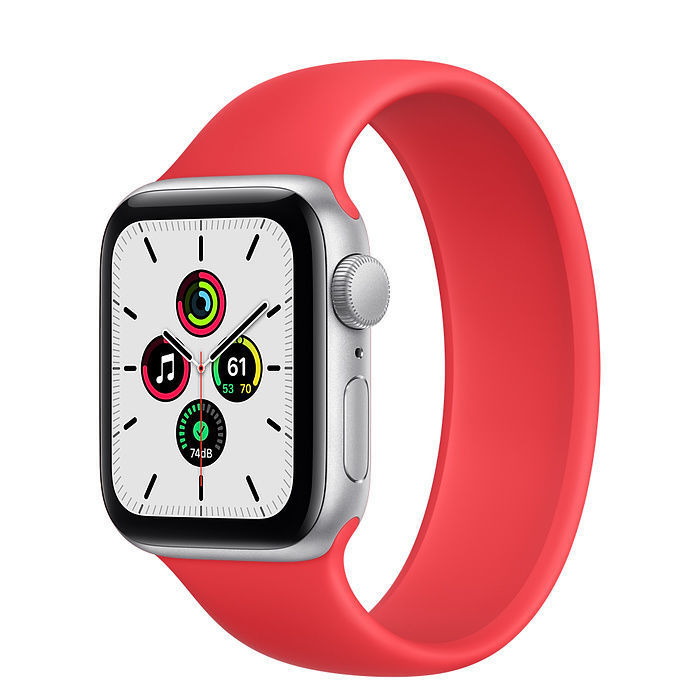 Apple Watch SE Silver Aluminum Case with Solo Loop