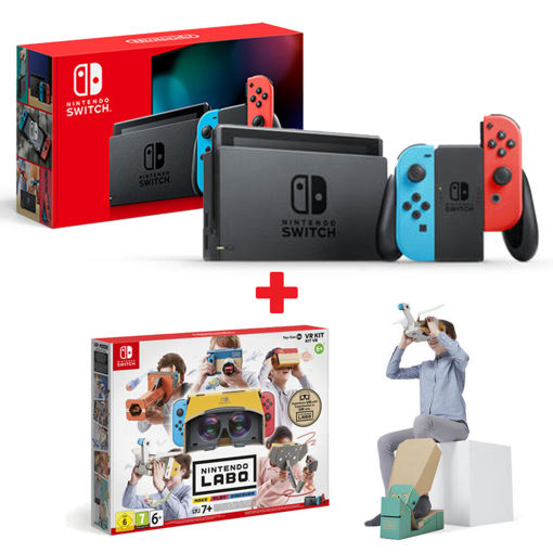 Nintendo Switch with Joy-Con Blue Red - Version 1.1 + Labo VR