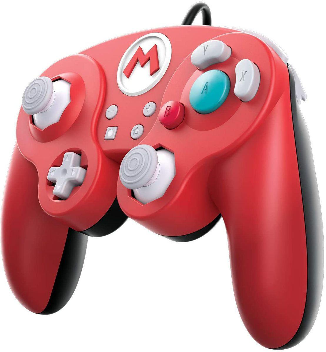 Super Smash Pro Wires Controller Red Super Mario GameCube in a retro design