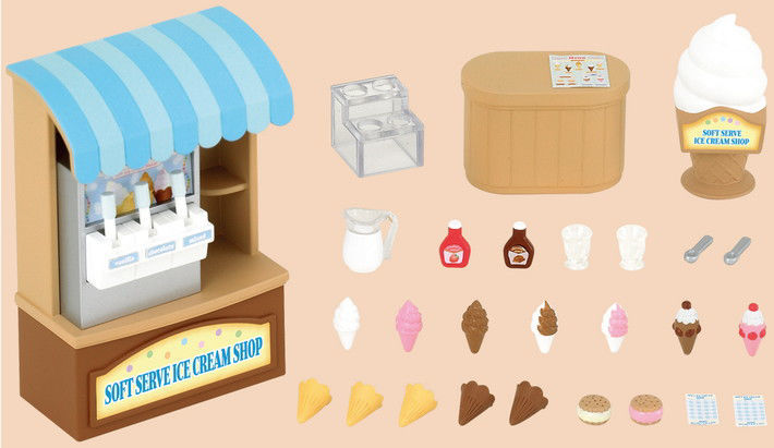 Sylvanian Families - Soft serve ice cream shop
