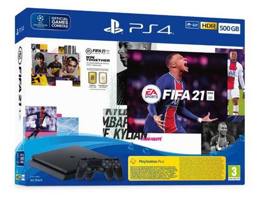Изображение Playstation 4 Slim 500GB + FIFA 21+ 2 Controllers